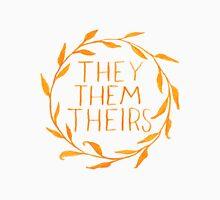 They Series-Orange Unisex T-Shirt