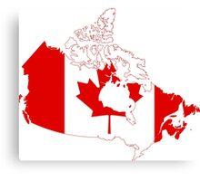 Canada Flag Map Canvas Print