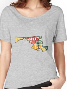 Floral Maryland Women's Relaxed Fit T-Shirt