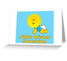 Little Mister Sunshine - Baby Boy One Piece Jumpsuit PJ Greeting Card