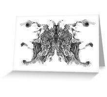 Cosmic Inkblot Greeting Card