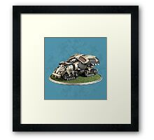 Futuristic Missile Launcher Vehicle Framed Print