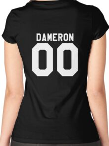 Poe Dameron Jersey Women's Fitted Scoop T-Shirt