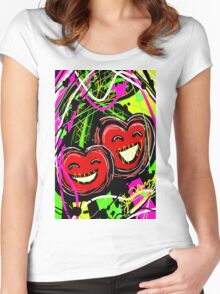 Adorable Cherry  Women's Fitted Scoop T-Shirt