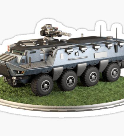Futuristic Armored Transport Sticker