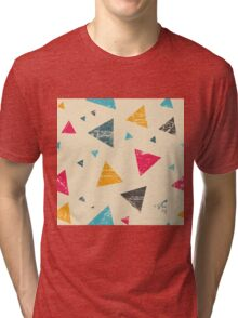 Grunge triangle pattern Tri-blend T-Shirt