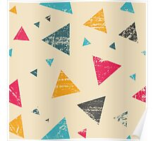 Grunge triangle pattern Poster