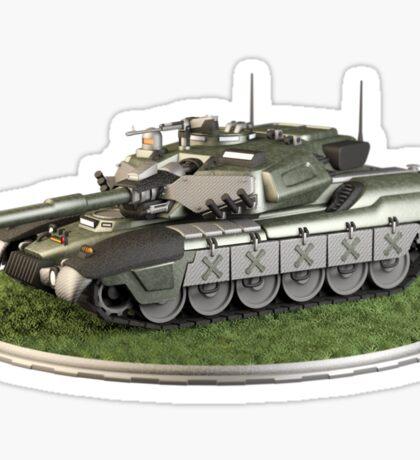 Futuristic Main Battle Tank Sticker