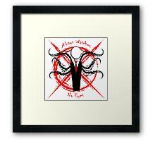 Slenderman- Always Watches, No Eyes Framed Print