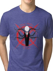 Slenderman- Always Watches, No Eyes Tri-blend T-Shirt