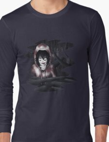 Jeff The Killer - In The Wall Long Sleeve T-Shirt