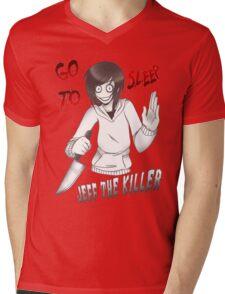 Jeff The Killer - Go To Sleep Mens V-Neck T-Shirt