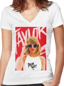Taylor Swift Women's Fitted V-Neck T-Shirt