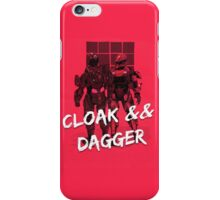 Red vs Blue Cloak and Dagger Phone Case iPhone Case/Skin