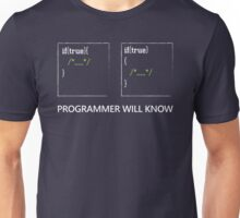 Programmer will know Unisex T-Shirt