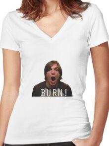 BURN! Kelso Women's Fitted V-Neck T-Shirt