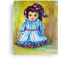 Marietjie, my pop / my doll Canvas Print