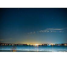 Walled lake night Photographic Print