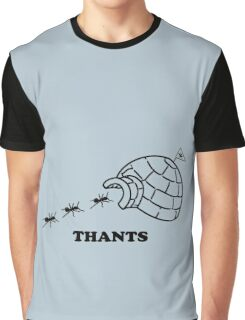 Thanks Ants.  Thants. (Black) Graphic T-Shirt