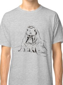 Playful Cute Adorable Fun Pencil Sketched Walrus Classic T-Shirt