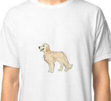 golden retriever pixel Classic T-Shirt