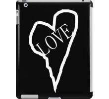HEART LOVE (White Print) iPad Case/Skin