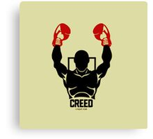creed 2015 logo boxing i fight for Canvas Print