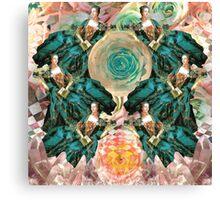 rococo rose queens Canvas Print