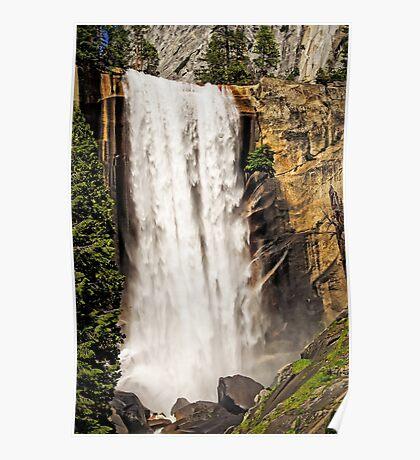 Spring Thunder - Vernal Falls - Yosemite Valley, California USA Poster