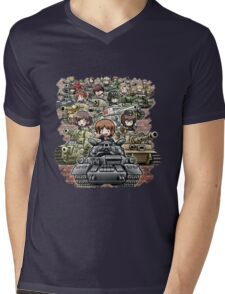 Girls und Panzer Crew Mens V-Neck T-Shirt