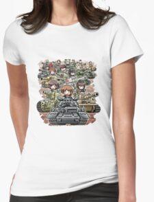 Girls und Panzer Crew Womens Fitted T-Shirt