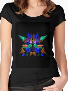 Neon Rorschach I Women's Fitted Scoop T-Shirt