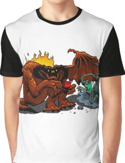 Moria Monsters Texting Graphic T-Shirt