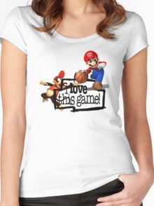 Mario Diddy Kong Women's Fitted Scoop T-Shirt