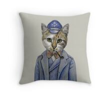 cat captain Throw Pillow