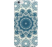 Creamy and blue mandala pattern iPhone Case/Skin