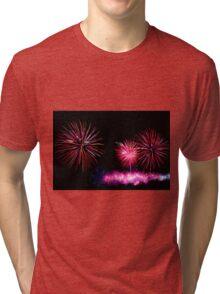 Australia Day Fireworks - Melbourne 2014 Tri-blend T-Shirt