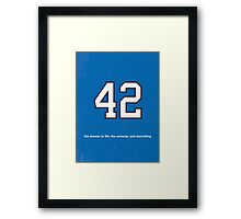 The 42nd Man's Guide to the Galaxy Framed Print