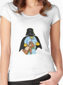 Sleepy Darth Vader Women's Fitted Scoop T-Shirt