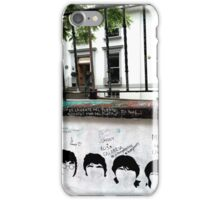 Fab Four Graffiti at Abbey Road Studios iPhone Case/Skin