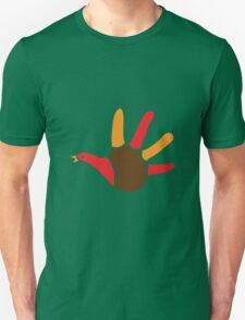 Turkey hand print for thanksgiving Unisex T-Shirt