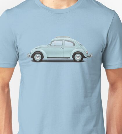 1962 Volkswagen Beetle Sedan - Pacific Blue Unisex T-Shirt