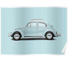 1962 Volkswagen Beetle Sedan - Pacific Blue Poster