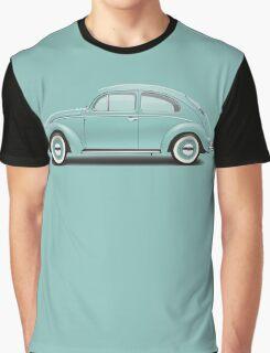 1961 Volkswagen Beetle Sedan - Turquoise Graphic T-Shirt