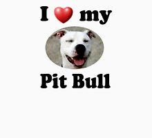 I Love My Pit Bull Women's Fitted V-Neck T-Shirt