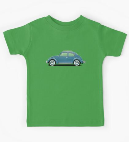 1961 Volkswagen Beetle Sedan - Dove Blue Kids Tee