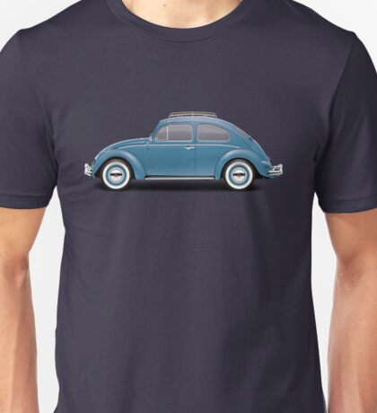 1961 Volkswagen Beetle Sedan - Dove Blue Unisex T-Shirt