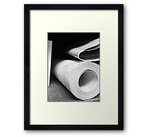 Blue Prints Framed Print
