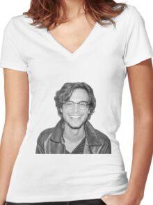 Matthew Gray Gubler Women's Fitted V-Neck T-Shirt