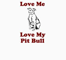 Love Me, Love My Pit Bull Women's Fitted Scoop T-Shirt